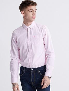 Superdry Superdry Classic University Oxford Shirt - Pink Picture