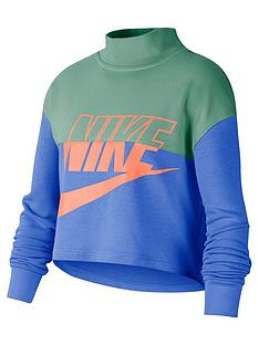 nike-older-girls-crop-crew-bluegreen