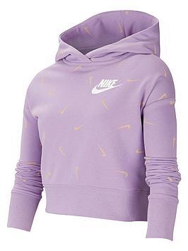 nike-older-girls-crop-printed-hoodie-violet