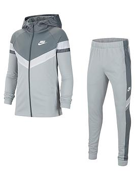 nike-older-childrensnbsppoly-woven-overlay-tracksuit-grey