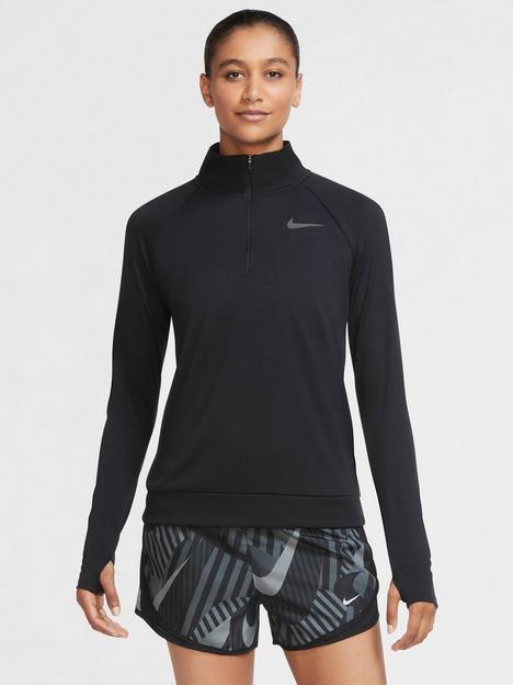 nike-running-long-sleeve-zip-pacer-top-black