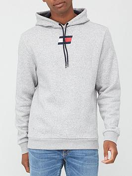 tommy-sport-flag-fleece-hoodie-grey