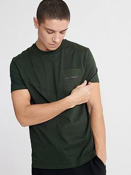 Superdry Superdry Urban Tech Nylon Pocket T-Shirt - Olive Picture