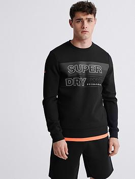 Superdry Superdry Gymtech Graphic Crew Neck Sweat Top - Black Picture