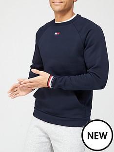 tommy-sport-stripe-cuff-fleece-crew-navy