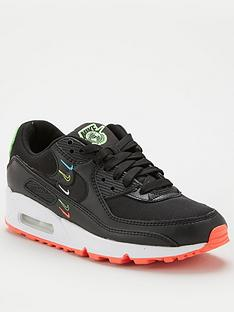 nike-air-max-90-se-trainers-blackgreen