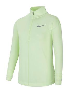 nike-older-girls-run-long-sleeve-half-zip-top-volt