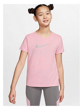 nike-older-girls-dry-vneck-swoosh-t-shirt-pinkgrey