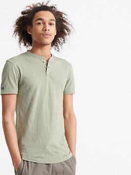 Superdry Superdry Heritage Short Sleeve Grandad Top - Green Picture