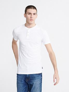 Superdry Superdry Heritage Short Sleeve Grandad Top - White Picture