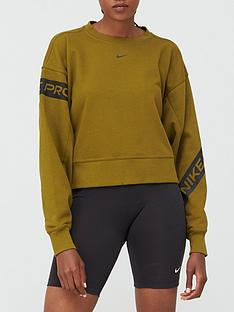 nike-training-get-fit-trompe-sweatshirt-olive