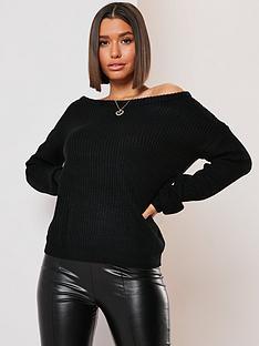 missguided-missguided-ophelita-off-shoulder-jumper-black