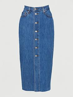 levis-button-front-midi-skirt-blue