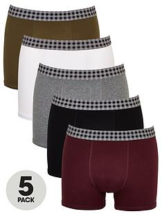 very-man-5-pack-check-waistband-trunks-multi