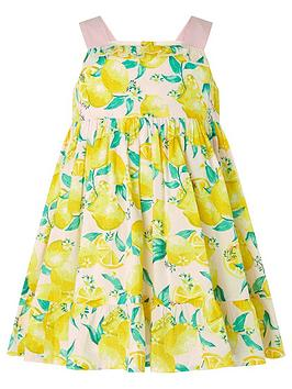Monsoon Monsoon S.E.W. Baby Girls Leonie Lemon Dress - Pink Picture