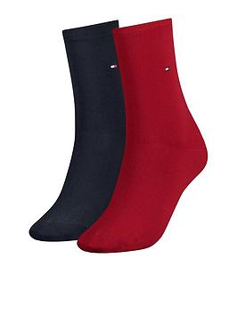 tommy-hilfiger-casual-sock-2-pack-navyred