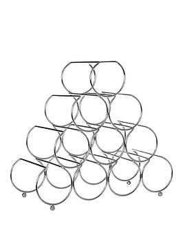 Premier Housewares Premier Housewares Metal Wire 10-Bottle Pyramid Wine  ... Picture
