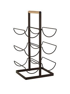 premier-housewares-wood-handled-vertex-6-bottle-wine-rack