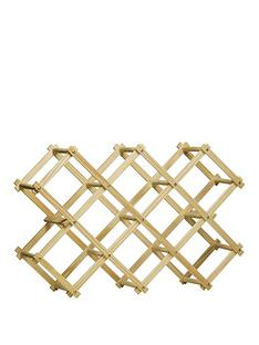 premier-housewares-pine-wood-10-bottle-folding-wine-rack