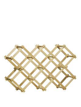 premier-housewares-pine-wood-10-bottle-folding-wine-rack