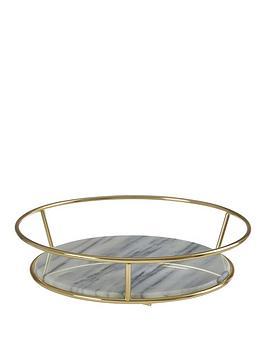 Premier Housewares Premier Housewares Metal White Marble Fruit Basket Picture