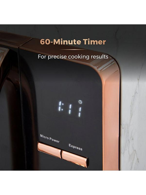 Tower White Marble and Rose Gold Microwave