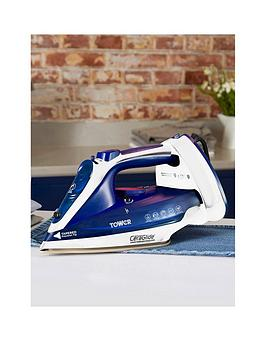 Tower Tower 2400W Cord Cordless Steam Iron- Blue