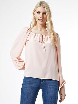 Dorothy Perkins Dorothy Perkins Frill Trim Long Sleeve Top - Pink Picture