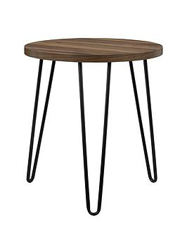 Very Owen Round Side Table - Walnut Effect Picture