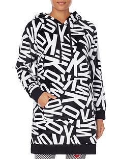 dkny-all-over-logo-lounge-dress-blackwhite