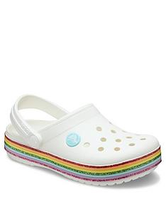 crocs-girls-crocband-rainbow-clog-slip-on-white