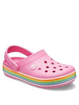Crocs Crocs Girls Crocband Rainbow Clog Slip On - Pink Picture