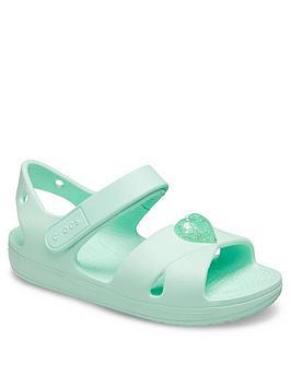 Crocs Crocs Girls Classic Cross Strap Sandal - Mint Picture