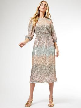 Dorothy Perkins Dorothy Perkins Ombre Sequin Midi Dress - Blush Picture