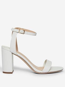 Dorothy Perkins Dorothy Perkins Shimmer Heeled Sandal - White Picture