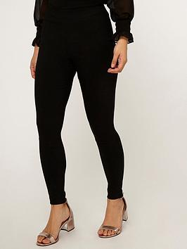 Dorothy Perkins Dorothy Perkins Petite Bengaline Trousers - Black Picture