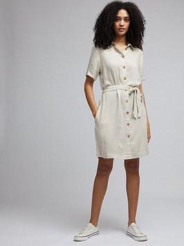 Dorothy Perkins Dorothy Perkins Linen Shirt Dress - Stone Picture
