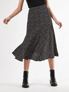 Dorothy Perkins Dorothy Perkins Spot Midi Skirt - Multi Picture
