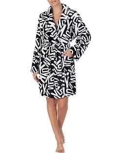 dkny-all-over-logo-short-robe-blackwhite