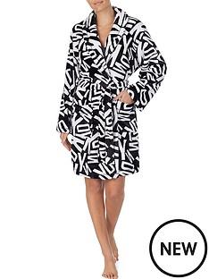 dkny-all-over-logo-short-robe-blackwhite
