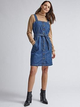 Dorothy Perkins Dorothy Perkins Dorothy Perkins Belted Pinny Dress - Indigo Picture