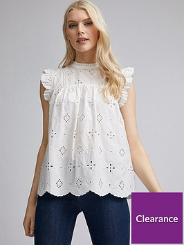 dorothy-perkins-eco-broderie-shell-top-ivory