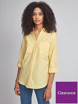 dorothy-perkins-linen-shirt-yellow