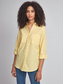 Dorothy Perkins Dorothy Perkins Linen Shirt - Yellow Picture
