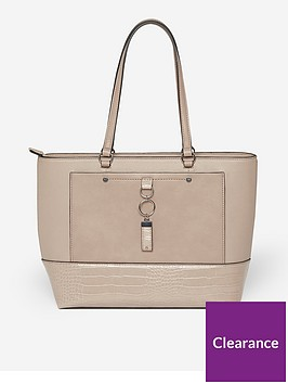 dorothy-perkins-pocket-front-shopper-taupe