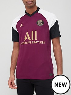 nike-psg-xnbspjordan-2021-3rd-short-sleeved-shirt-bordeaux