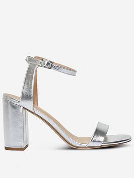 Dorothy Perkins Dorothy Perkins Shimmer Heeled Sandal - Silver Picture