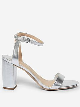 Dorothy Perkins Dorothy Perkins Wide Fit Shimmer Block Heeled Sandal -  ... Picture