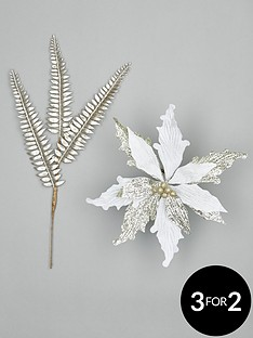 set-of-10-gold-tree-spray-and-poinsettia-christmas-tree-decorations