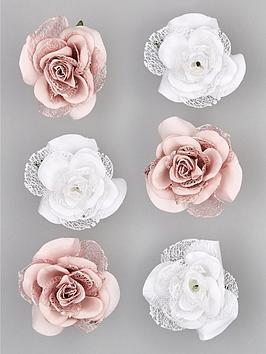 set-of-6-clip-on-roses-ndash-dusky-pinkwhite
